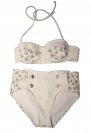 WILDFOX - Cream Cowgirl & White Denim