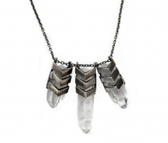 TOMTOM Chevron TriAura Necklace